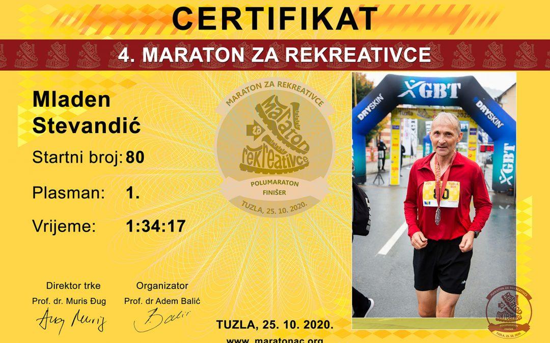 Preuzmite diplome za kategoriju polumaraton